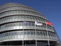 The Greater London Assembly - repair to scratched glazing